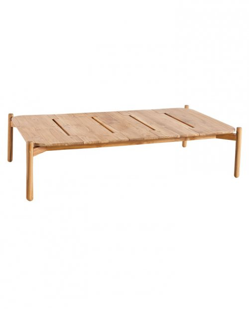 Mesa de centro rectangular Hamp para zona chill out