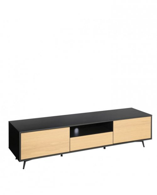 Mueble TV RISE en DM metal gris