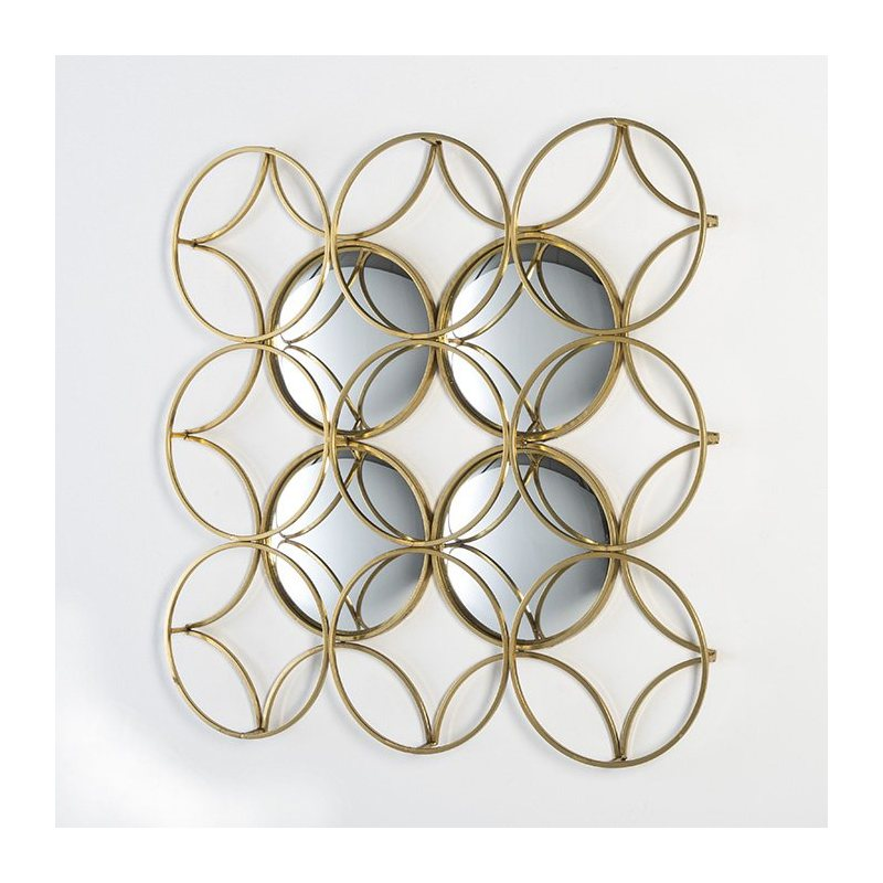 Comprar escultura geom trica de pared en metal oro con for Adornos pared metal