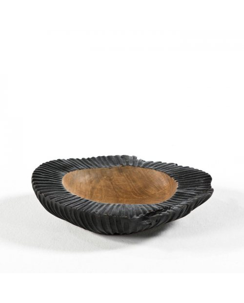 Bowl de madera en color negro para decorar la casa