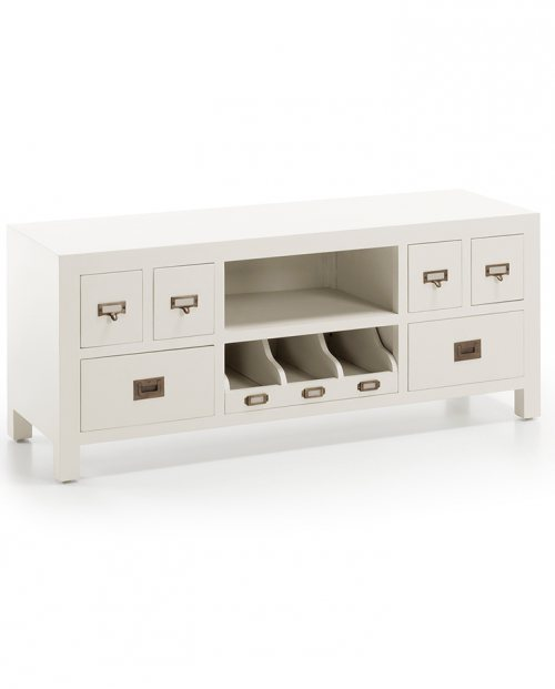 Mueble de tv colonial New White