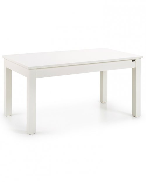 Mesa de comedor extensible colonial New White