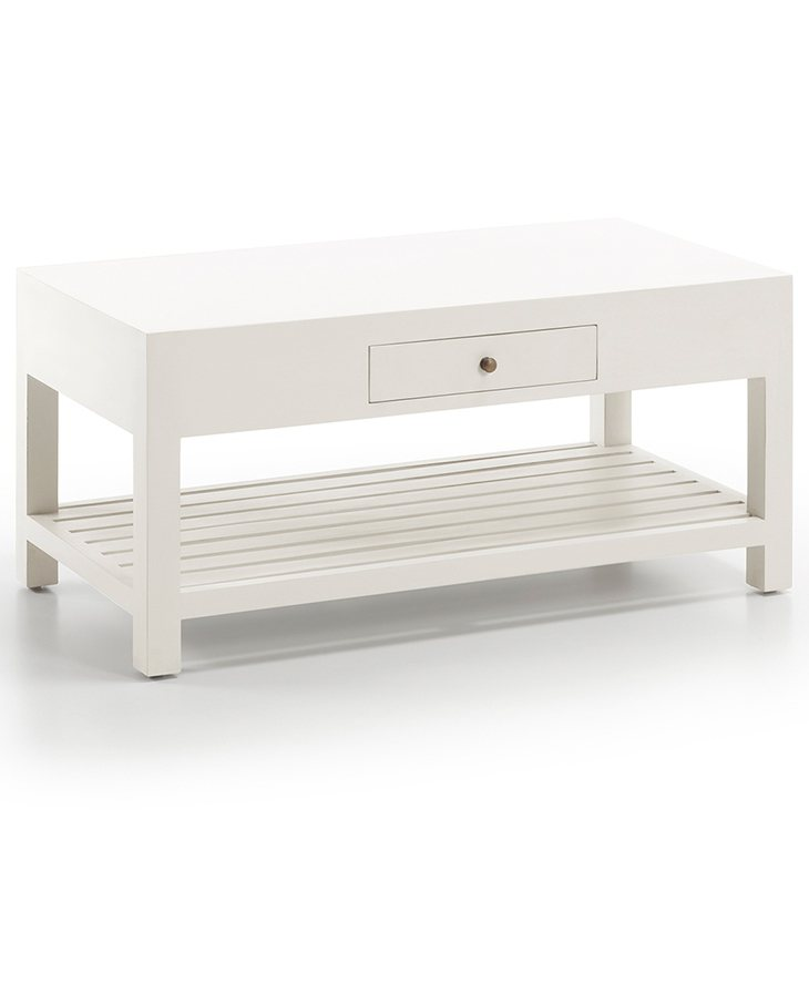 Mesa de centro con estante colonial New White