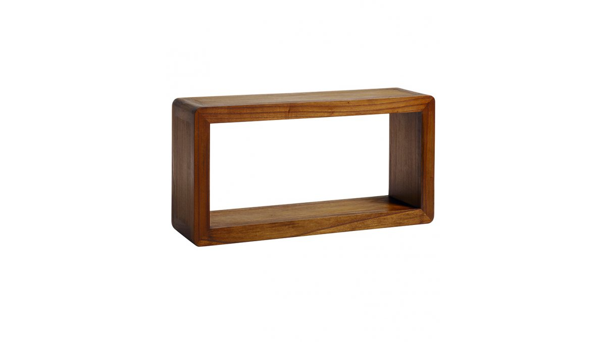 Estante rectangular de madera Flash estilo colonial