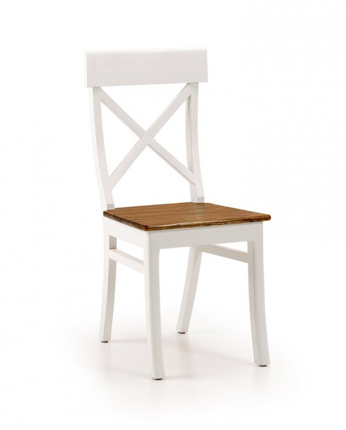 Silla respaldo cruz colonial New White