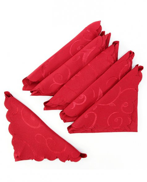 Set de 18 servilletas de tejido de color rojo para decorar